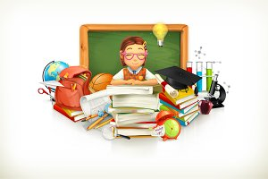 Education. 3d vector illustration