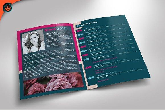 breast cancer charity event program brochure templates creative