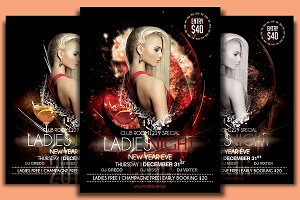 NYE Ladies Night Flyer Template