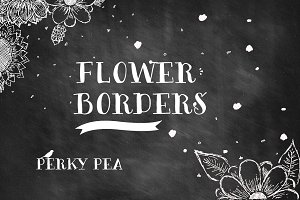 Hand Drawn Flower Borders 1