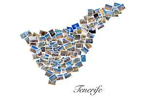 Collage of travel photos of Tenerife