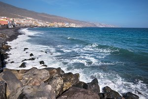 Beach in Candelaria, tenerife, Spain
