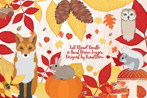 Fall Woodland Forest Animals