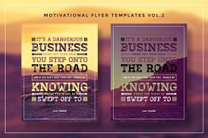 Typography Motivational Flyer Vol.2