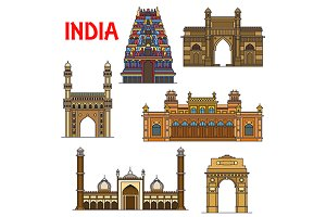 Travel landmarks of India