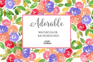 5x7 Floral Pattern Card Backgrounds