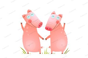 Baby Small Pigs Cute Friends