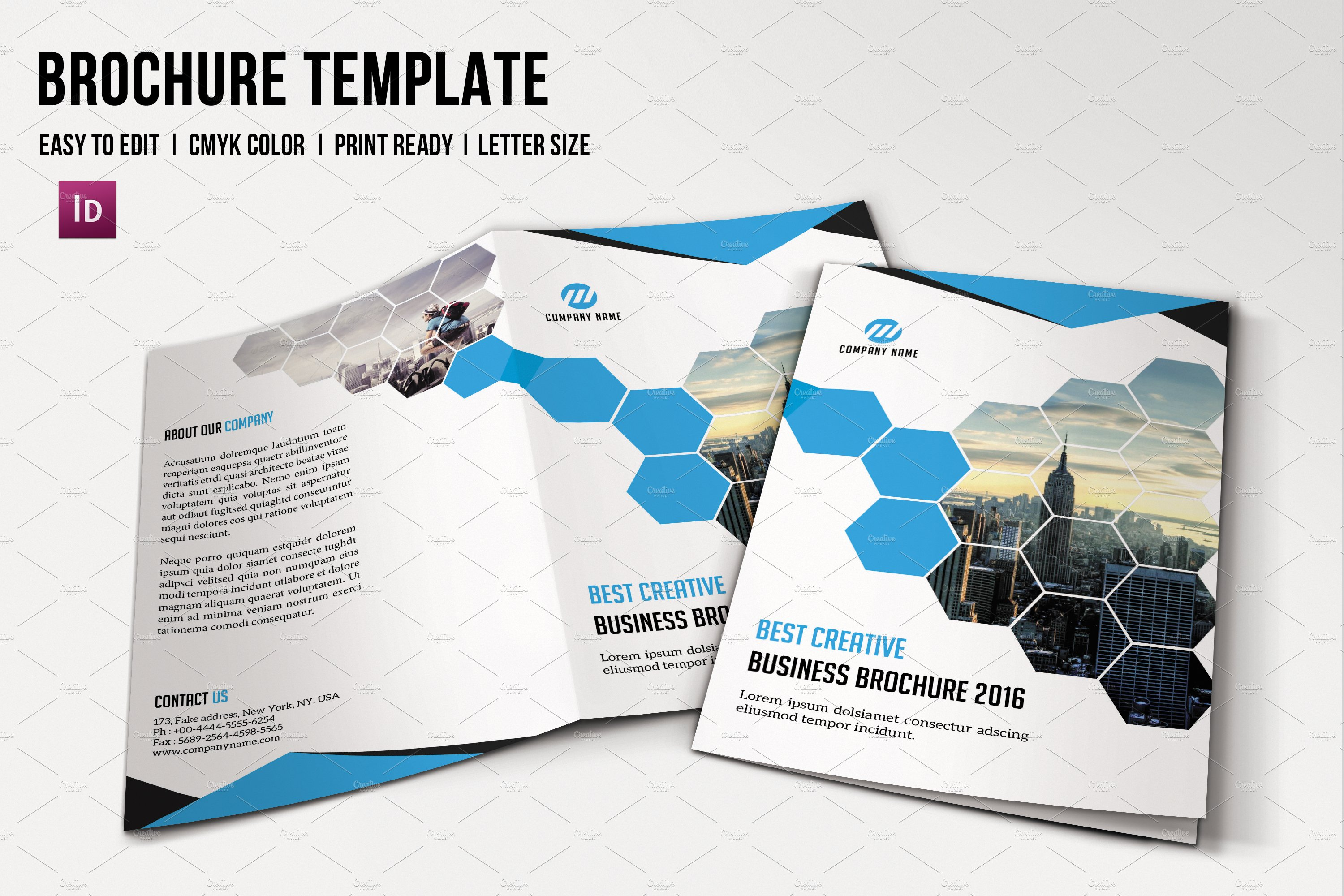 Corporate brochure template v604 brochure templates for 6 page brochure template