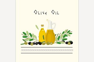 Vector Olive Oil