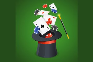 Casino Win Concept Card
