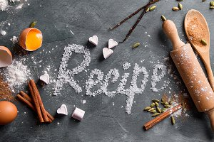 Recipe word with spices
