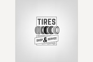 Tires Shop Logo