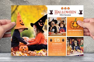 Halloween Mini Session Template-V401