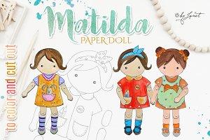 Matilda - paper doll