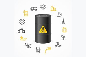 Oil Industry Concept. Vector