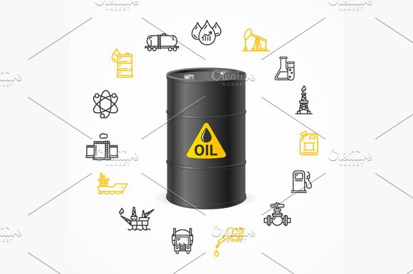 Oil Industry Concept. Vector - Illustrations
