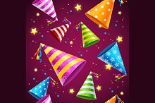 Party Hat Background Pattern