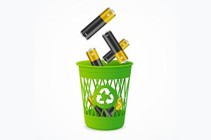 Recycling Battery Concept. Vector