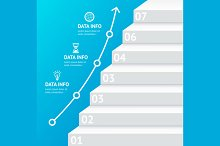 Stairs Step Banner Infographic