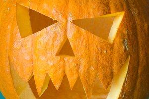 Halloween pumkin lantern closeup