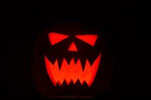 Halloween pumkin lantern dark