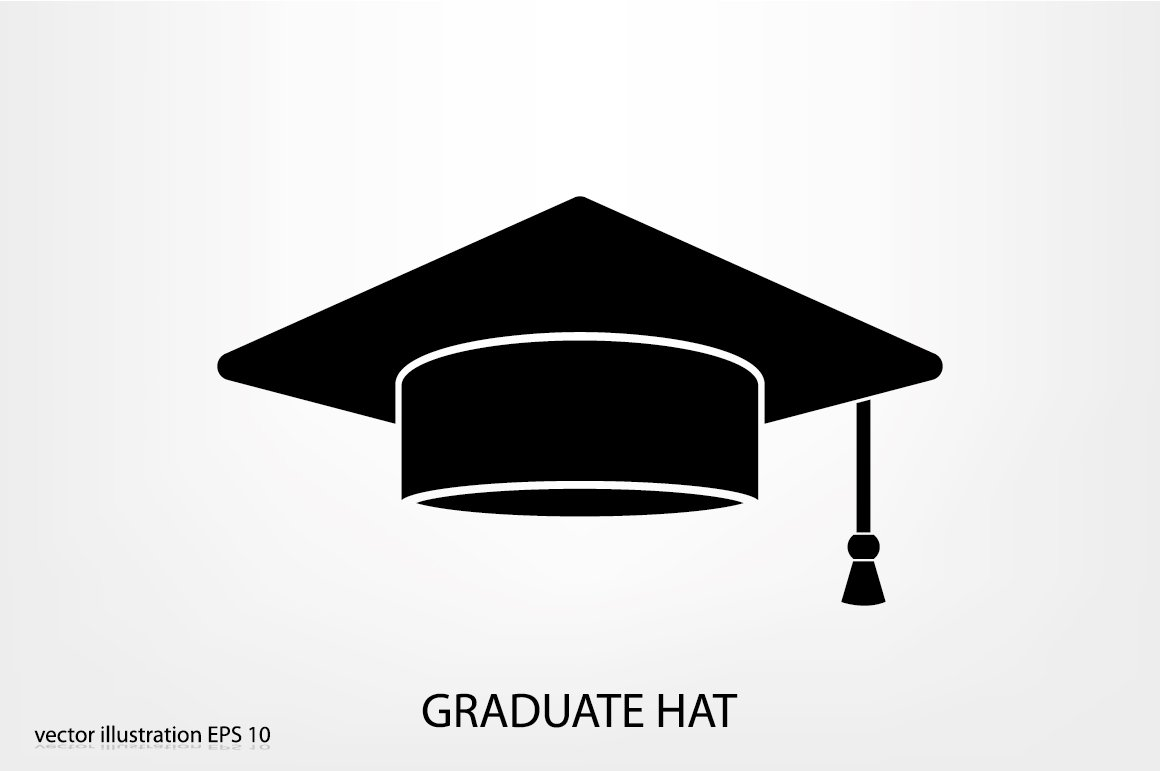 graduation mortar board template - graduate hat icons creative market
