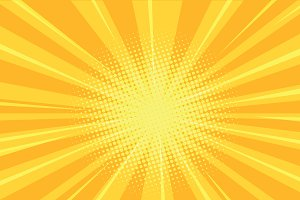 yellow rays comics retro background