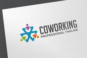 Co Working Logo Template