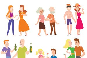 People couples vector