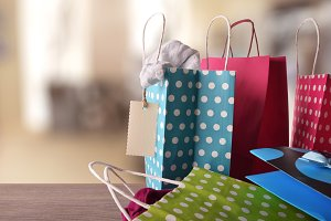 Shopping bags with new clothes