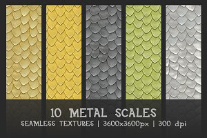Metal scales seamless textures
