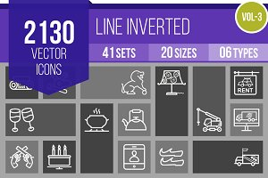 2130 Line Inverted Icons (V3)