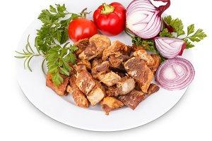 Fried pork greaves