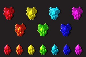 Set of magic crystals