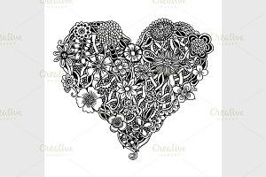 Ornate floral heart
