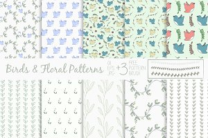 Birds & Floral Patterns