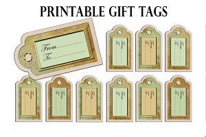 Christmas Printable gift tag from to