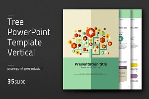 Tree PowerPoint Template Vertical