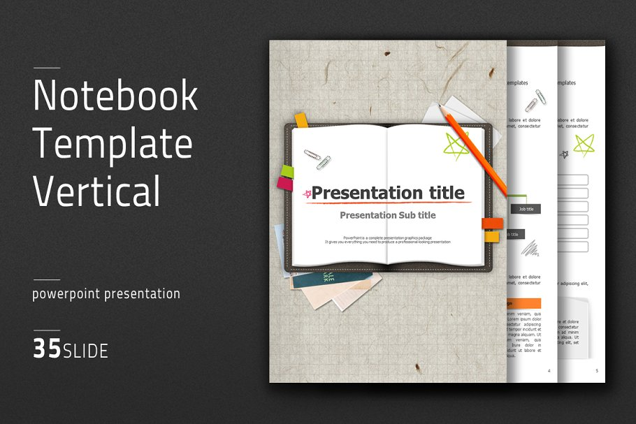 Notebook Template Vertical Other Presentation Software