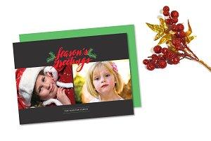 Season's Greeting Holiday Photo Card