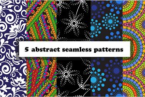 5 of abstract seamless patterns