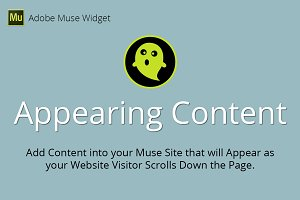 Appearing Content Adobe Muse Widget