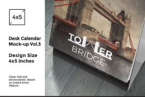 Desk Calendar Mock-Up vol.3