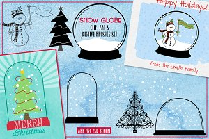 Snow Globe Brushes + Clip-Art Set