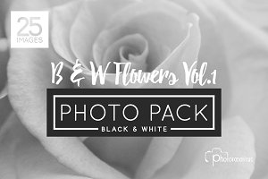 25 B&W Flowers Vol.1 Hi Res Photos