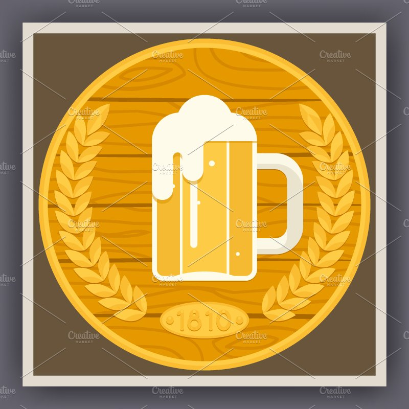 Beer Symbol Illustrations Creative Market