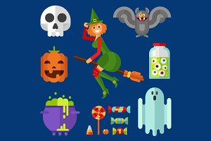 Halloween Icons Vector Set