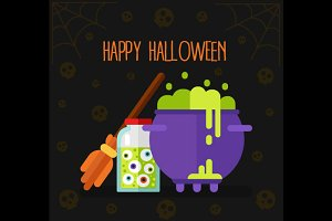 Halloween Gift Card Vector