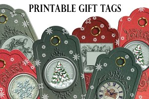 Christmas Printable gift tags cards