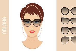 Sunglasses shapes for oblong face
